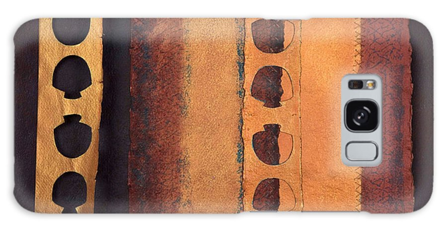 Pageformat Galaxy Case featuring the mixed media Page Format No 3 Tansitional Series  by Kerryn Madsen-Pietsch