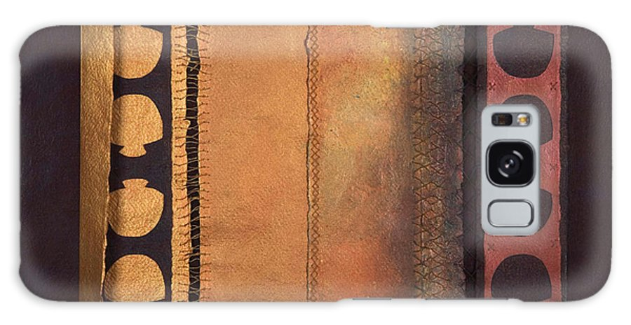 Artistbook Galaxy Case featuring the painting Page Format No.4 Tansitional Series by Kerryn Madsen-Pietsch
