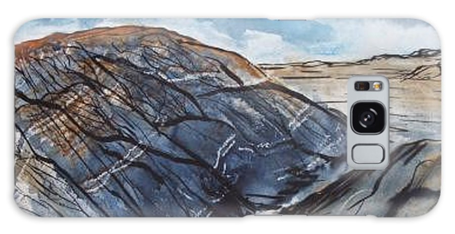 Plein Air Galaxy S8 Case featuring the painting Painted Desert landscape mountain desert fine art by Derek Mccrea