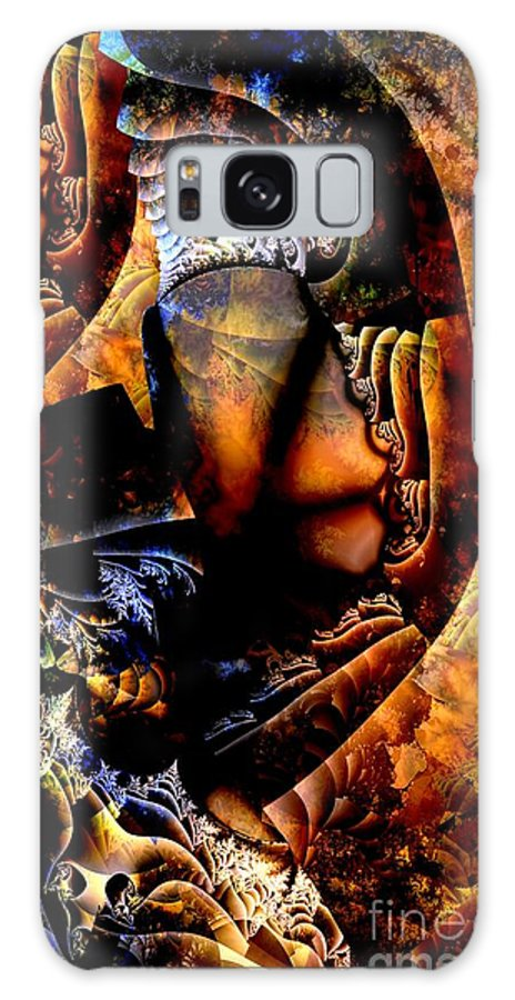 Painted Glass Galaxy S8 Case featuring the digital art Painted Glass by Ron Bissett