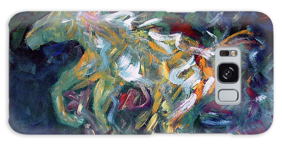 Abstract Horse Galaxy Case featuring the painting Painted Pony by Lance Headlee