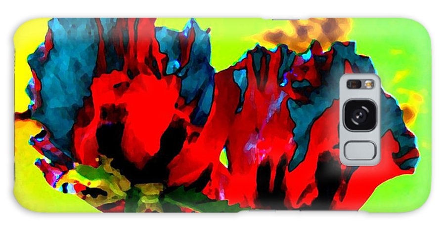 Poppies Galaxy S8 Case featuring the digital art Painted Poppies by Will Borden