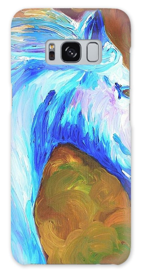 Horses Galaxy Case featuring the painting Painted Stallion by Michael Lee