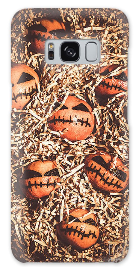 Scary Galaxy S8 Case featuring the photograph painted tangerines for Halloween by Jorgo Photography - Wall Art Gallery