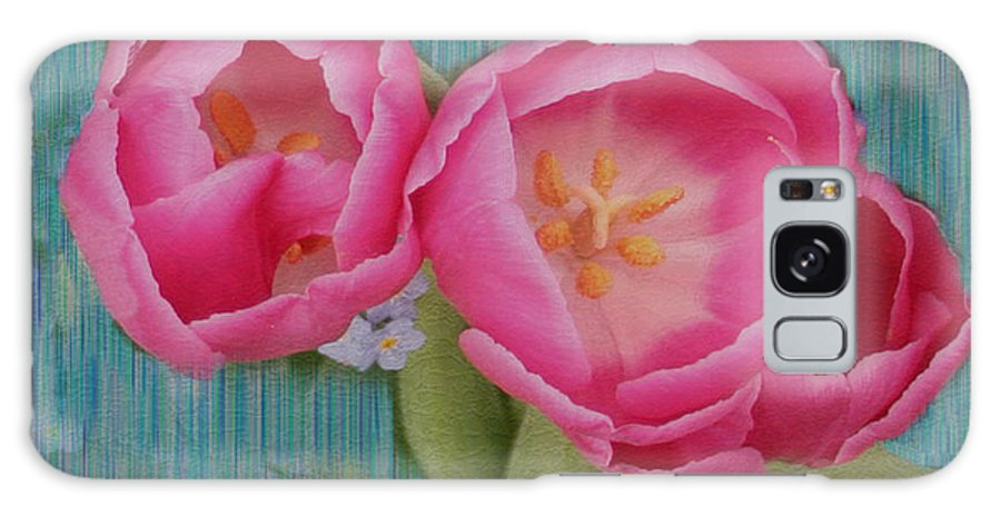 Flowers Galaxy Case featuring the photograph Painted Tulips by Linda Sannuti