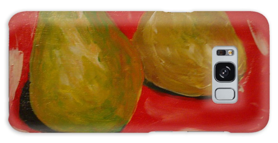 Pears Galaxy Case featuring the painting Pair Of Pears by Melinda Etzold