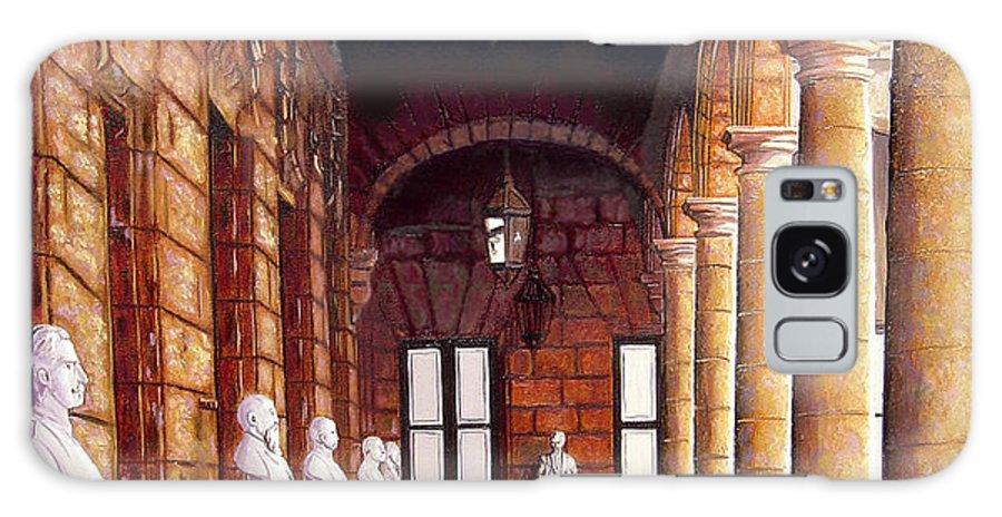 Cuban Art Galaxy S8 Case featuring the painting Palacio by Jose Manuel Abraham