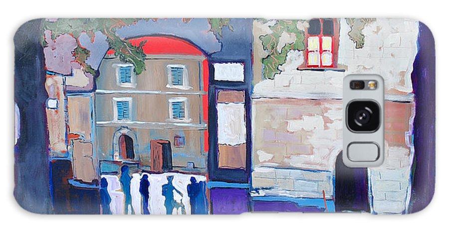 Village Galaxy Case featuring the painting Palazzo Di Villafranca by Kurt Hausmann