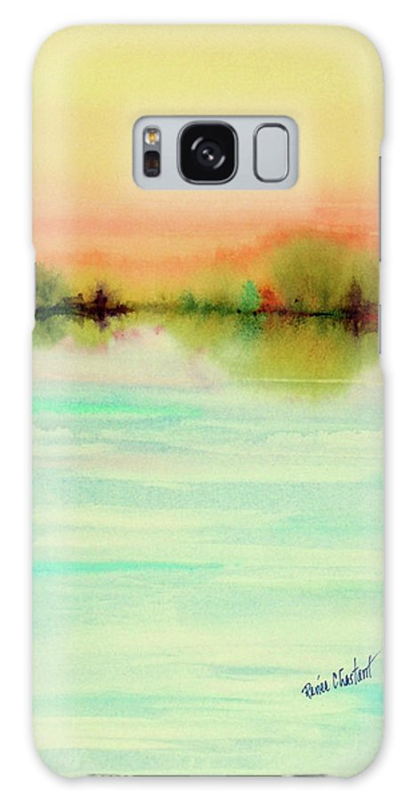 Landscape Galaxy S8 Case featuring the painting Pale Horizon by Renee Chastant