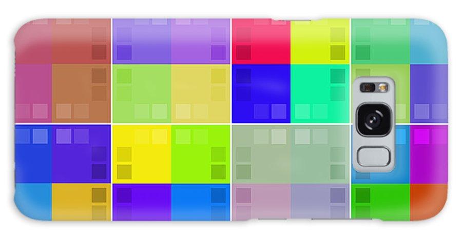 Set Galaxy S8 Case featuring the digital art Palettes by Miroslav Nemecek