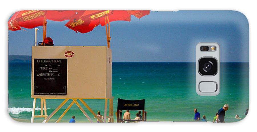 Palm Beach Sun Sea Sky Beach Umbrellas Galaxy S8 Case featuring the photograph Palm Beach Dreaming by Sheila Smart Fine Art Photography