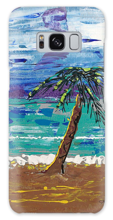 Impressionist Painting Galaxy S8 Case featuring the painting Palm Beach by J R Seymour