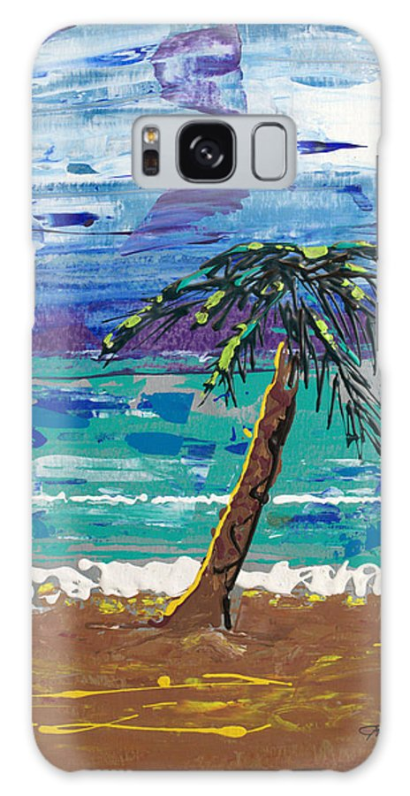 Palm Tree Galaxy Case featuring the painting Palm Beach by J R Seymour