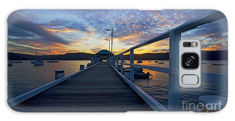 Palm Beach Sydney Wharf Sunset Dusk Water Pittwater Galaxy S8 Case featuring the photograph Palm Beach Wharf At Dusk by Sheila Smart Fine Art Photography
