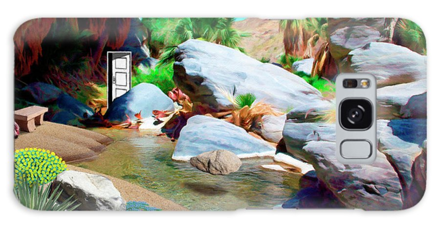 Nature Galaxy S8 Case featuring the painting Palm Canyon Park by Snake Jagger