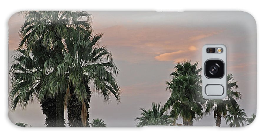 Palm Galaxy S8 Case featuring the photograph Palm Desert Sunset by Carol Eliassen