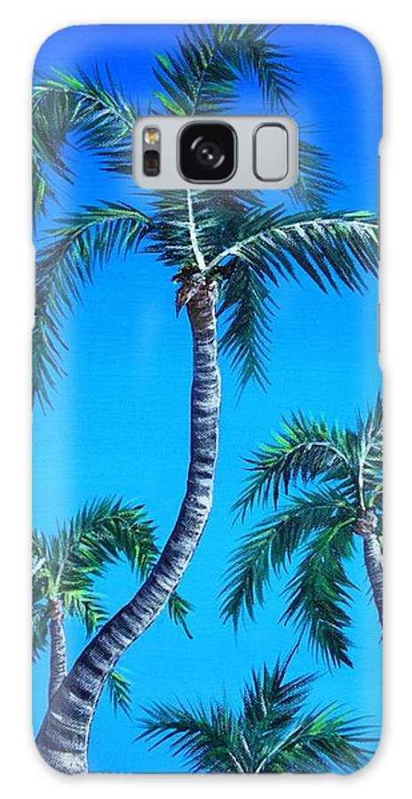 Palm Galaxy S8 Case featuring the painting Palm Tops by Anastasiya Malakhova