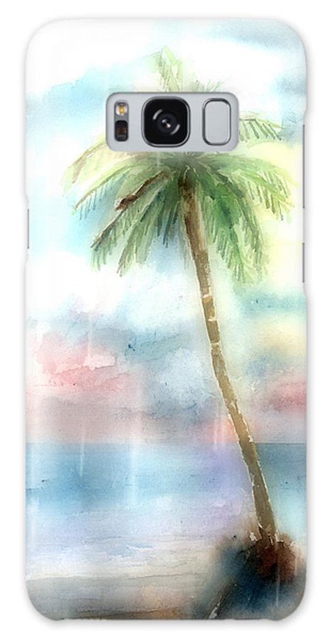 Palm Galaxy Case featuring the painting Palm Tree by Arline Wagner