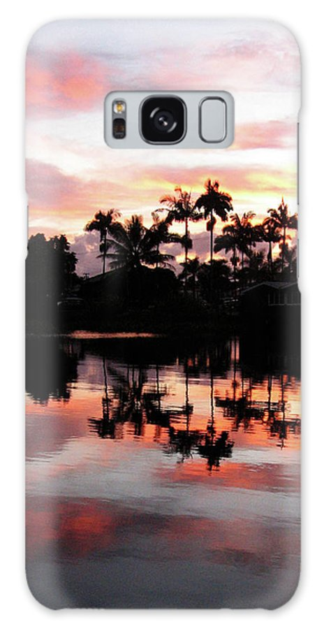 Hawaii Galaxy S8 Case featuring the photograph Palm Tree Inlet 2 by Pauline Darrow
