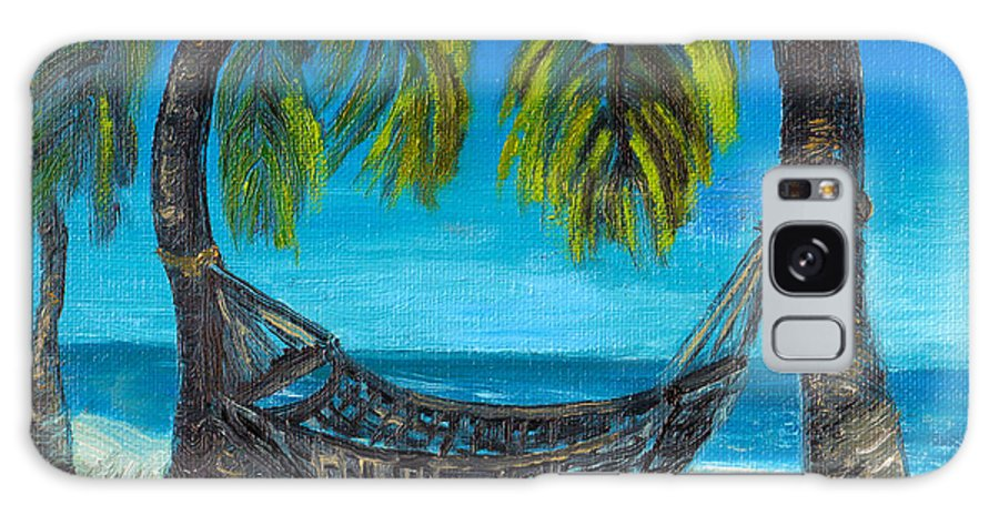 Tropical Galaxy S8 Case featuring the painting Palm Trees by Deb Wolf