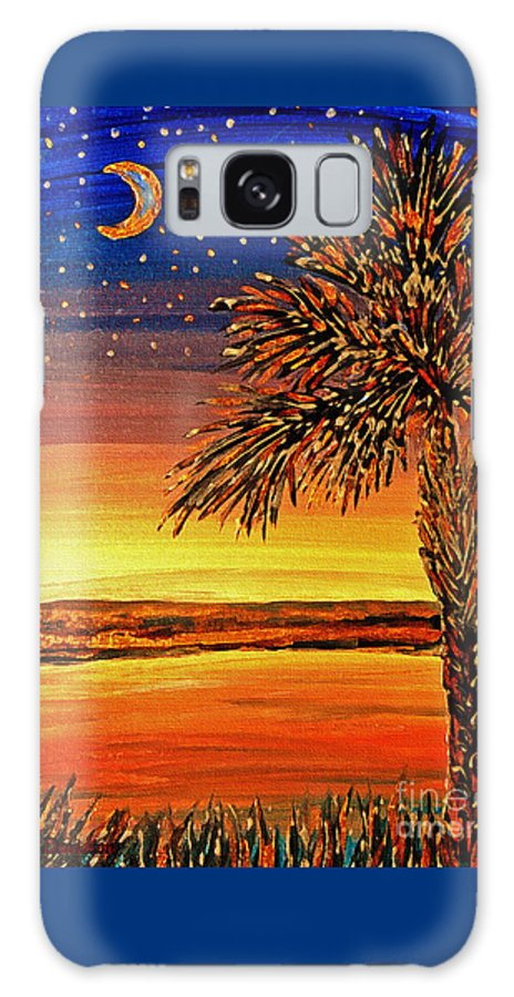 Palmetto Galaxy S8 Case featuring the painting Palmetto Sunset by Patricia L Davidson