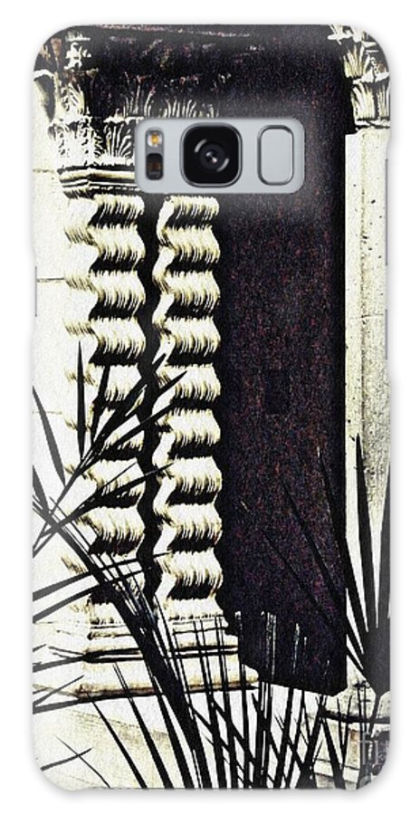 Palms Galaxy S8 Case featuring the photograph Palms And Columns by Sarah Loft
