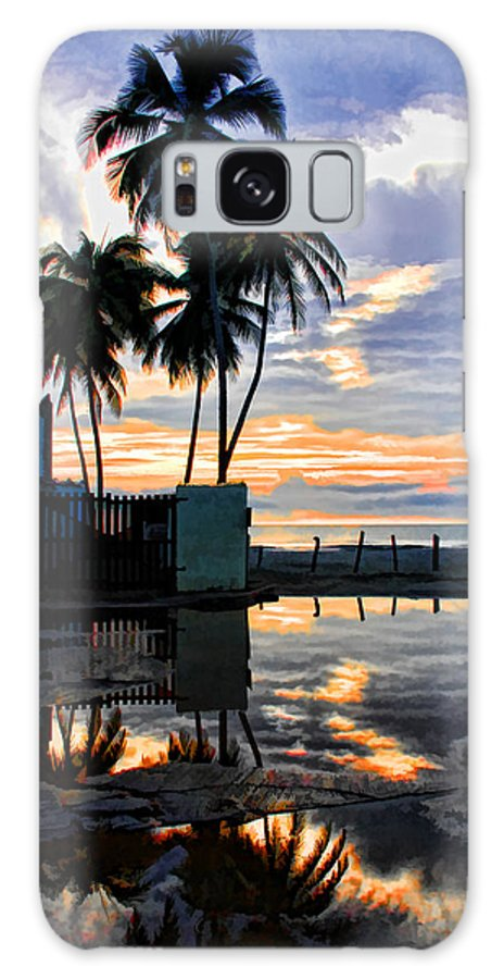 Palms Galaxy S8 Case featuring the photograph Palms And Sunshine by Galeria Trompiz