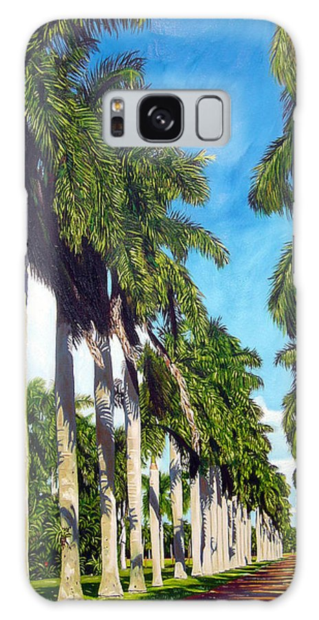 Palms Galaxy S8 Case featuring the painting Palms by Jose Manuel Abraham