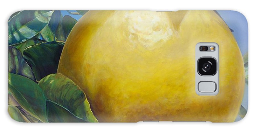 Floral Painting Galaxy Case featuring the painting Pamplemousse by Muriel Dolemieux