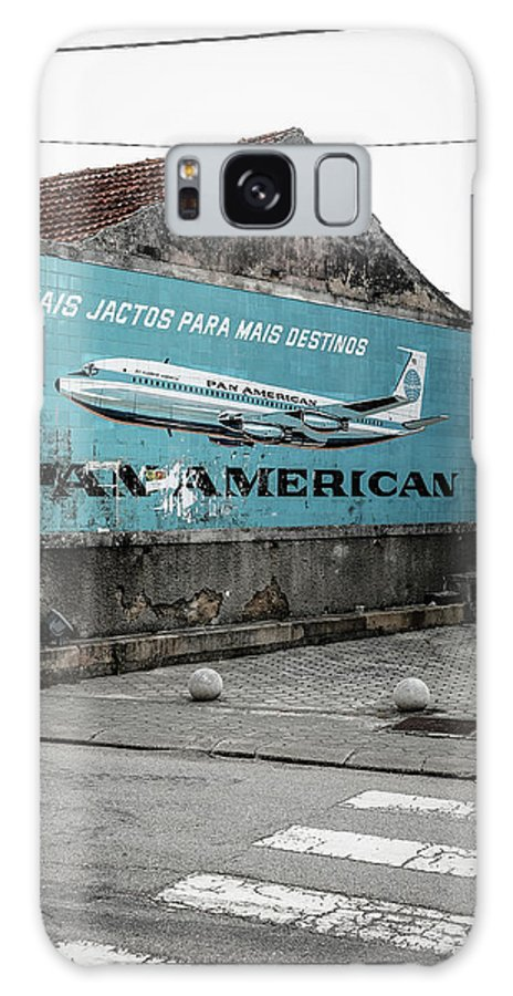 Jet Clipper America Galaxy Case featuring the photograph Pan American Vintage Ad II by Marco Oliveira