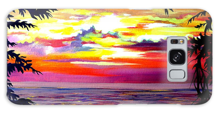 Acrylic Galaxy S8 Case featuring the painting Panama.pacific Sunrise by Anna Duyunova