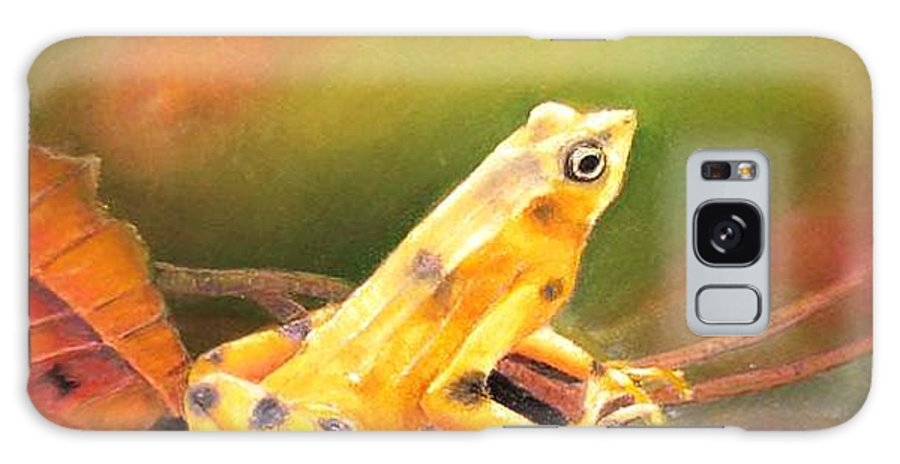 Endangered Galaxy S8 Case featuring the painting Panamenian Golden Frog by Ceci Watson