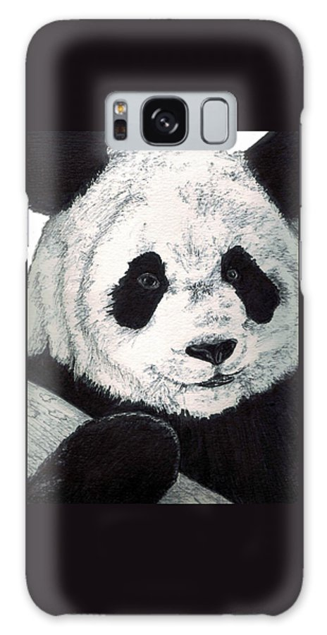 Panda Galaxy Case featuring the painting Panda by Debra Sandstrom