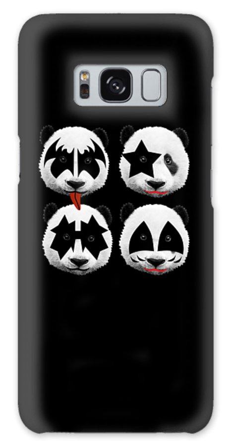 Gene Simmons Galaxy Case featuring the digital art Panda Kiss by Mark Ashkenazi