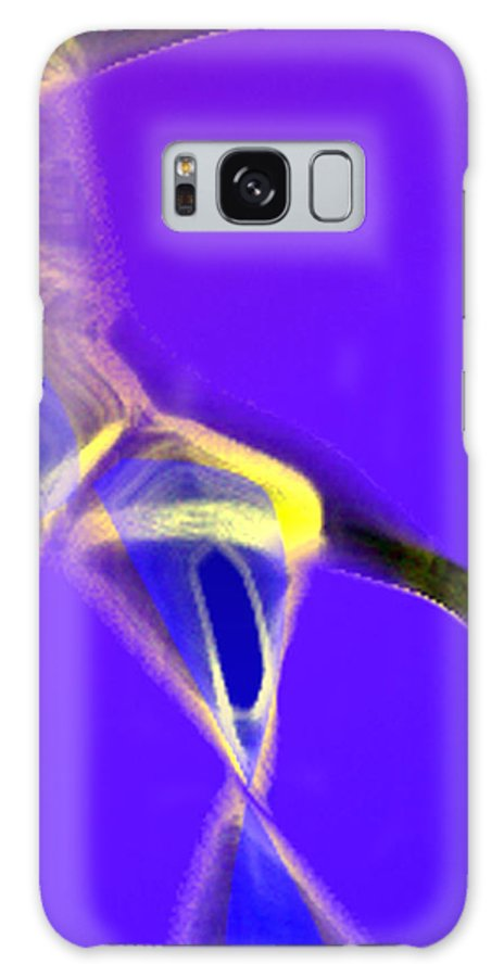 Abstract Galaxy S8 Case featuring the digital art panel two from Movement in Blue by Steve Karol