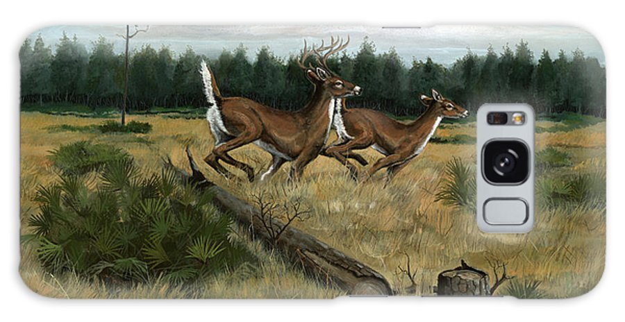 Whitetail Deer Galaxy Case featuring the painting Panhandle Deer by Timothy Tron