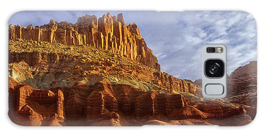 North America Galaxy S8 Case featuring the photograph Panorama The Castle On A Cloudy Morning Capitol Reef National Park by Dave Welling