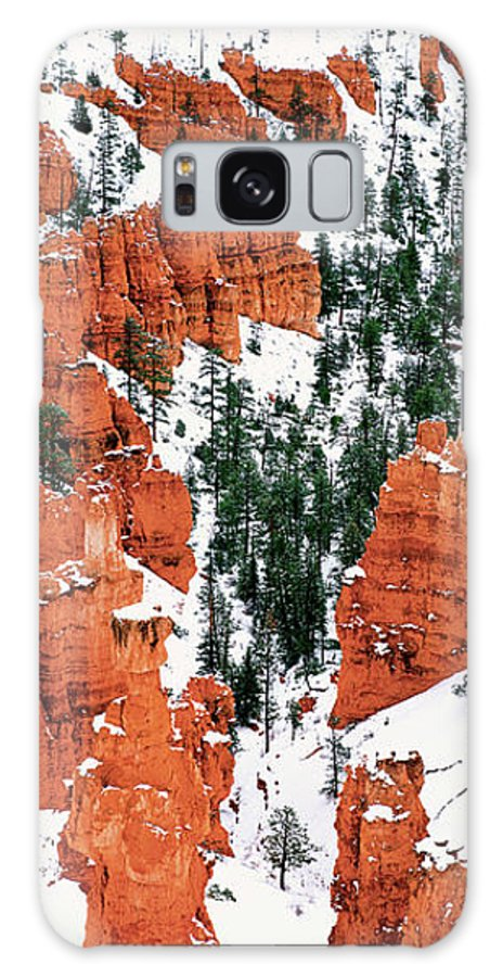North America Galaxy S8 Case featuring the photograph Panorama Winter Storm Blankets Thors Hammer Bryce Canyon Utah by Dave Welling