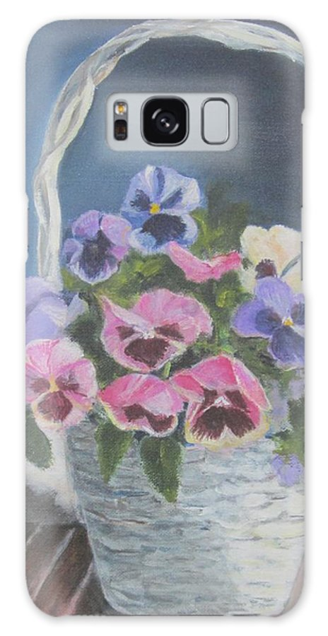 Painting Galaxy S8 Case featuring the painting Pansies For A Friend by Paula Pagliughi