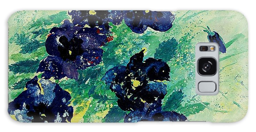 Flowers Galaxy S8 Case featuring the painting Pansies by Pol Ledent