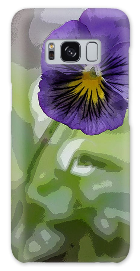 Summer Flower Galaxy S8 Case featuring the photograph Pansy by David Bearden
