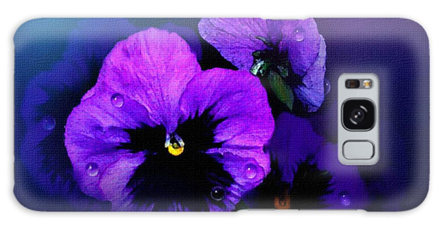 Pansy Galaxy Case featuring the painting Pansys by Robert Foster