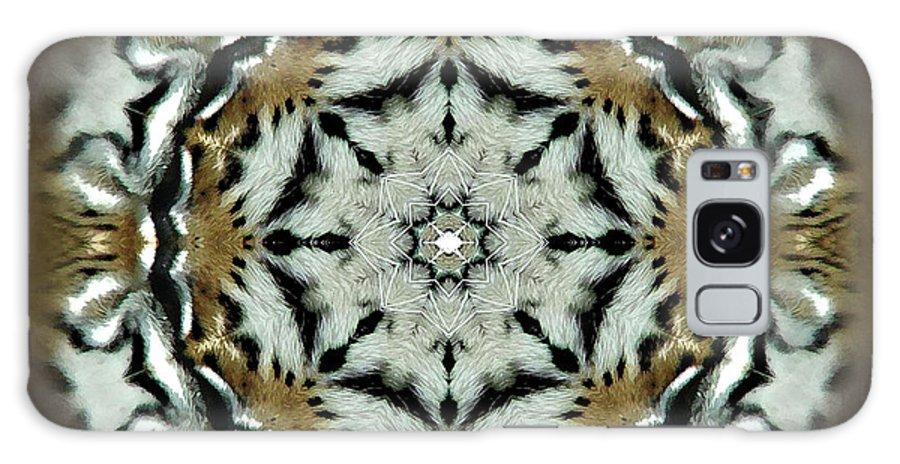 Digital Galaxy S8 Case featuring the digital art Panthera Tigris Kaleidoscope by Kathryn Strick