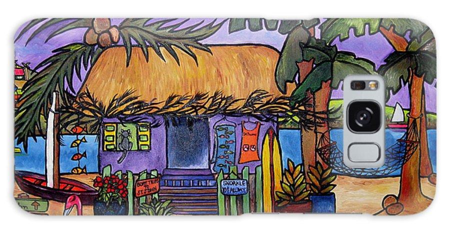 Caribbean Galaxy S8 Case featuring the painting Papaya by Patti Schermerhorn