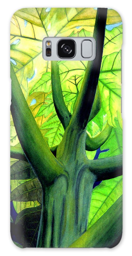 Papaya Tree Galaxy S8 Case featuring the painting Papaya Tree by Kevin Smith