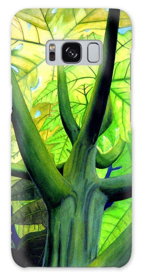 Papaya Tree Galaxy S8 Case featuring the painting Papaya Tree by Kevin Smith