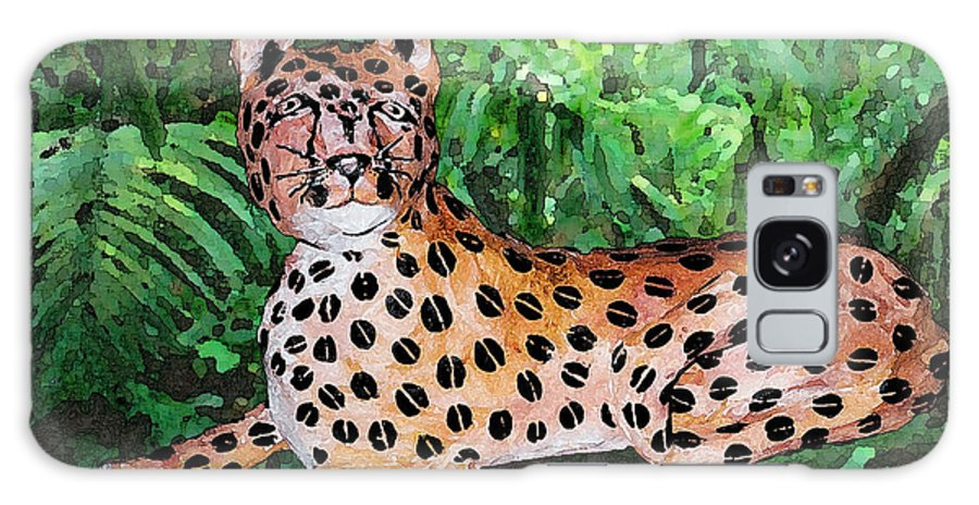Leopard Galaxy S8 Case featuring the photograph Paper Mache Leopard by Arline Wagner