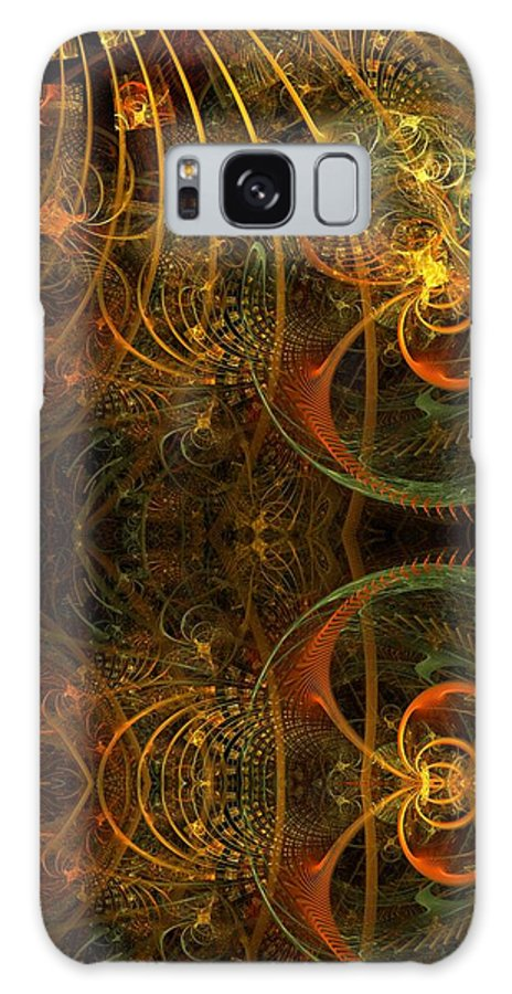 Fractal Galaxy S8 Case featuring the digital art Parallel Visions Of Time  by Gayle Odsather