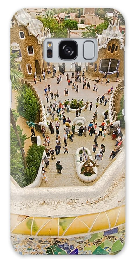 Parc Guell Galaxy Case featuring the photograph Parc Guell In Barcelona by Sven Brogren