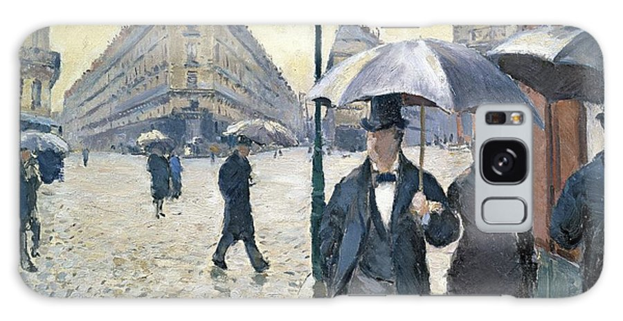 Sketch Galaxy Case featuring the painting Paris a Rainy Day by Gustave Caillebotte